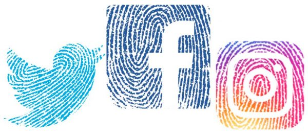 fingerprint redes sociales