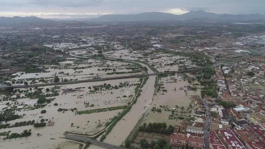 Inundación en Ceutí