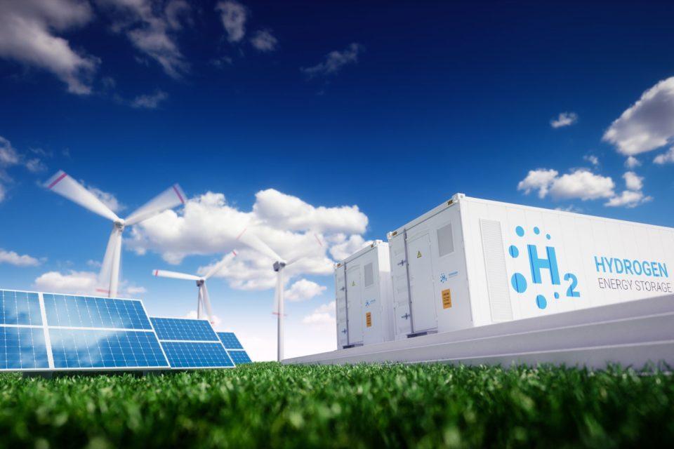 Planta de pila de Hidrógeno para almacenar energía renovable