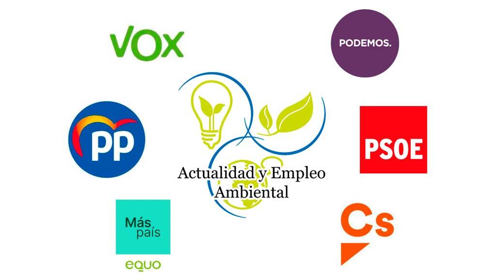 Programas de PSOE, PP, Ciudadanos, Unidas Podemos, Vox y Más País-Equo.