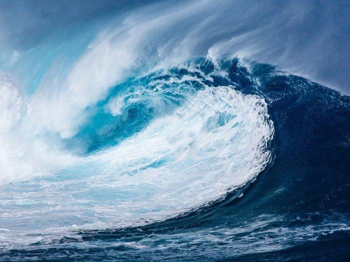 Ola en el Oceano